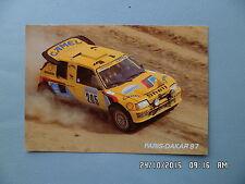 CARTE  PEUGEOT 205 TURBO 16 PARIS DAKAR 87   I12