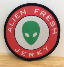 """WEIRD Vintage 90's Embroidered 2.5"""" Patch ALIEN FRESH JERKY Roswell Area 51 RARE"""