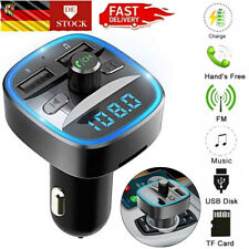 Bluetooth FM Transmitter Auto MP3 Player QC3.0 USB KFZ Freisprechanlage Adapter