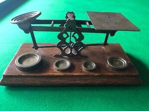 antique brass postal scales