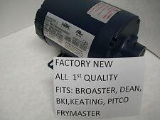 NEW HAIGHT-NBK HOT OIL MOTOR FITS DEAN BKI KEATING FRYMASTER PITCO FRY FILTERS
