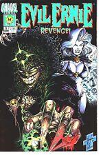 Chaos Comics 1994 EVIL ERNIE: Revenge #1 of 4 Glow In The Dark Embossed Cover