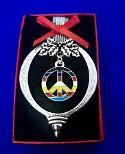 Rainbow Peace Sign Christmas Ornament Rainbow Pride Tree Trimming Holiday Decor