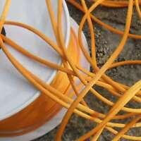 5 Métres de cordon satin 2,1mm +/- Fabrication française (orange)