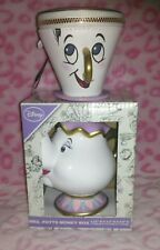 Primark Disney Mrs Potts Teapot Money Box + Chip Coin Purse Beauty and the Beast