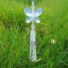 Suncatcher Crystal Healing Pendulum Lamp Prisms Hanging Butterfly Pendant Gift