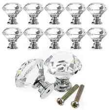 Crystal Glass Cabinet Knobs Drawer Dresser Knobs Lot Cupboard Handles Set of 12