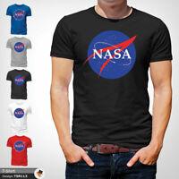 NASA Logo T Shirt Mens Tshirt Black T-Shirt Space Science Large Cotton XXL 3XL