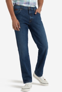 Mens Wrangler Texas stretch fit jeans 'Indigo Wit' FACTORY SECONDS WA202