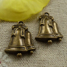 free ship 90 pieces Antique bronze small bell charms 23x16mm #3890