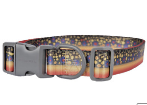 Pet Champion Brook Trout Strategy Fin and Foul Series Dog Collar, Large New