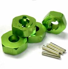 L176GR 1/8 Scale Buggy M14 14mm Drive Hex Hub Wheel Adapter Alloy Green x 4 6mm