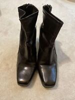 Franco Sarto Womens Mack Brown Ankle Boots Heels Size 7 MINT CONDITION