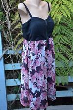 CROSSROADS Floral ROSE ZIP Bodice DRESS Race-Party Size 16 -L NEW rrp $49.95