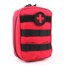 Tactical First Aid Kit Bag Molle Medical Pouch Outdoor Travel Emergency Pack Red