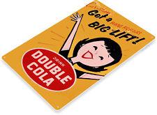 TIN SIGN Double Cola Coke Retro Sign Shop Store Kitchen Cave A054