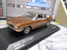 AUDI 100 coupé MKI 1969 Brown Marron met NEUF NEW Minichamps 1:43