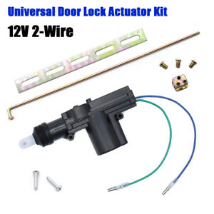 Car Door Lock Actuator Keyless Entry Motor Universal 2 Wire 12V Auto Truck Alarm