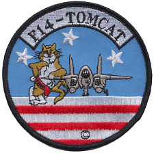 United States Navy USN Grumman F-14 Tomcat Round Embroidered Patch