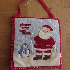 JOHN LEWIS Christmas Padded/Embroidered Door Hanger