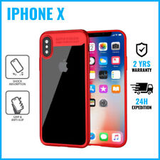 Focus Armor Cover Cas Coque Etui Silicon TPU Hoesje Case Black For iPhone X Red