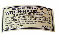 Pharmacy label vtg ephemera paper WW1 era WWI drugstore witch hazel NF extract