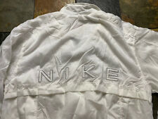 New listing Vintage Nike White Nylon Windbreaker Spell Out Women's Size Large 12-14