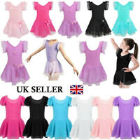 UK Girls Ballet Dance Dress Lyrical Dancer Leotard Gymnastics Dancewear Costume