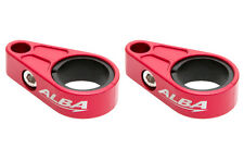 LTZ 400 LTR 450 LT250R LT500   Brake Line Clamps Alba Racing  Red   BLC-002-R
