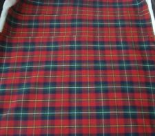"Coming Home Red Plaid Placemats Set of Three 13.5"" x 19"" NWOT"