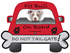 Pit Bull -  Dog on Board Magnet Sign