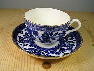 Antique Coalport Blue & White Belfort Cup & Saucer (1)