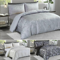 Metallic Black Silver White Jacquard Comforter Cover Double King Size Bed Set