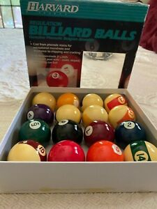 Harvard Billiard Pool Ball Set, Authentic Belgian Aramath Made In Belgium