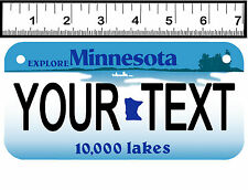 PERSONALIZED ALUMINUM MOTORCYCLE STATE LICENSE PLATE-MINNESOTA