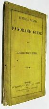 1863 Panoramic Map & Guide of Niagara Falls to Quebec by Hunter & Pickup
