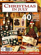 Handmade craft decorating sewing Vol 24 no 7 Christmas in July -over 40 projects