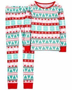 NWT Carter's 3T 4T 5T 6 7 8 10 12 14 Holiday Christmas Fair Isle Pjs Pajamas