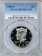 1998 S Kennedy CLAD Half Dollar JFK Proof PCGS PR70DCAM Deep Cameo Blue 50c