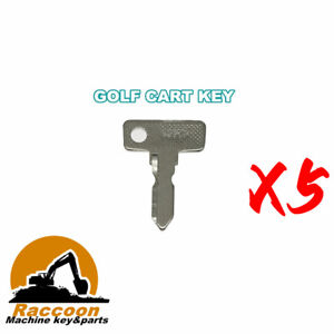 5pcs 1920 Club Car Golf Cart 1984-Up Gas or Electric Ignition Key Replacement