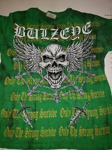 Bulzeye Graphic T-shirt, Only the strong survive, Large.,