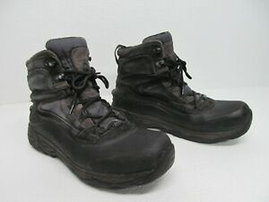 Merrell Ice Jam Waterproof Black Suede Leather Hiking Boots Size Mens 10.5