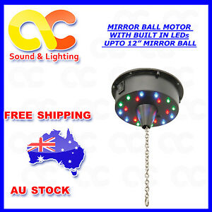 Battery Operated Mirror Ball LED Motor Sound Mode Max Load 3kg 6rpm 12inch 30cm
