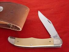 "Schrade USA Made SC500 5-3/8"" White Folding Hunter Sheath Knife MINT"