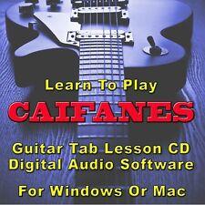 CAIFANES Guitar Tab Lesson CD Software - 37 Songs