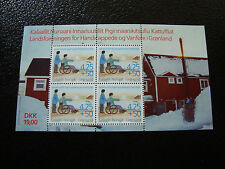 GROENLAND (danemark) - timbre - yt bloc n° 11 nsg (Z1) stamp greenland