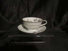 Noritake ROSAMOR 55851s Mint Cnndition Gray Black Roses Cup and Saucer