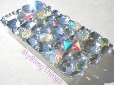 3D Jewel Bling Case for iPhone 5 5S Sparkle Mix w/BIG Crystal & AB Rhinestones