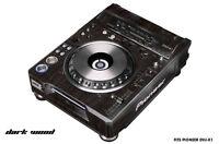 Skin Decal Wrap for PIONEER DVJX1 DJ Mixer CD Pro Audio DVJ X1 Part - DARK WOOD