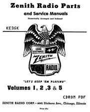 1942 Zenith Parts Catalog * CDROM * PDF